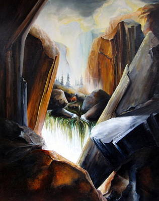 Painting - Serenity Canyon By Jake Brown by Jake Brown