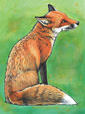 Red Fox Mixed Media - Serenity by Cheryl Crowley