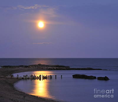 Photograph - Serenity Connecticut Coastline by Cindy Lee Longhini