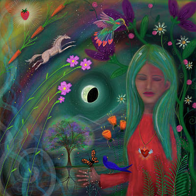Digital Art - Serenity Eclipses All by Marti McGinnis