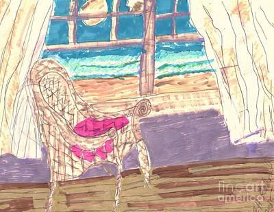 Empty Chairs Mixed Media - Serenity by Elinor Rakowski