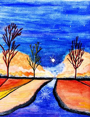Serenity Evening Art Print