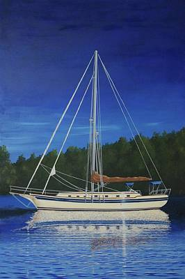 Painting - Twilight Reflections by Hugh Blanding