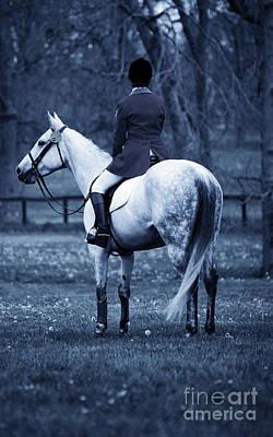 Kentucky Horse Park Digital Art - Serenity I - Blue by J M Lister