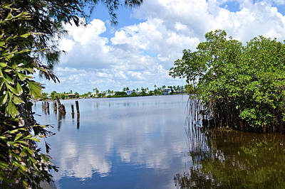Art Print featuring the photograph Serenity In Matlacha Florida by Timothy Lowry