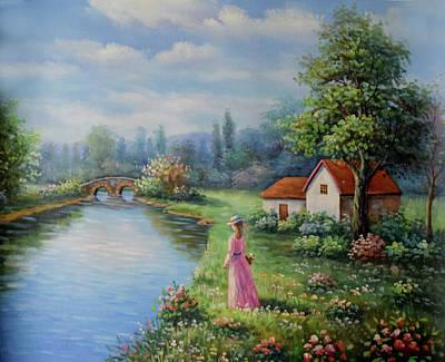 Serenity In Pink Art Print by Studio Artist