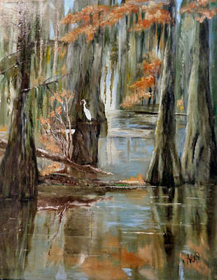 Painting - Serenity In The Swamp by Arlen Avernian - Thorensen