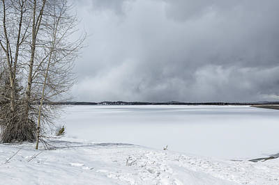 Photograph - Serenity - Jackson Lake In April by Belinda Greb
