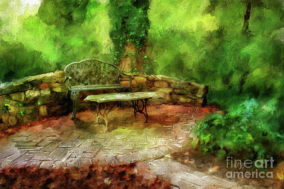 Patio Digital Art - Serenity by Lois Bryan