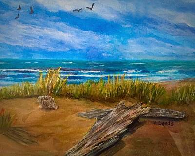 Painting - Serenity On A Florida Beach by Anne Sands