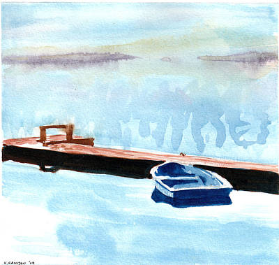 Serenity On The Lake Art Print by Kerry Hartjen