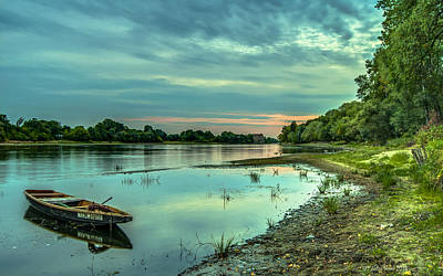Photograph - Serenity Over Narew River by Julis Simo