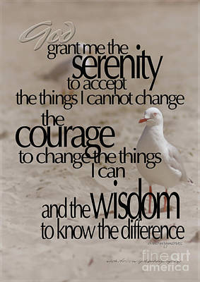Photograph - Serenity Prayer 01 by Vicki Ferrari