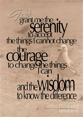Photograph - Serenity Prayer 04 by Vicki Ferrari