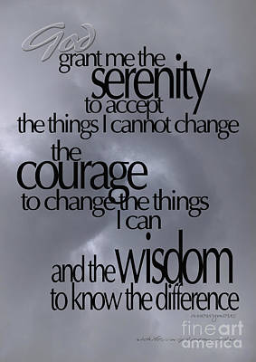 Photograph - Serenity Prayer 05 by Vicki Ferrari