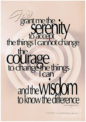 Photograph - Serenity Prayer 06 by Vicki Ferrari