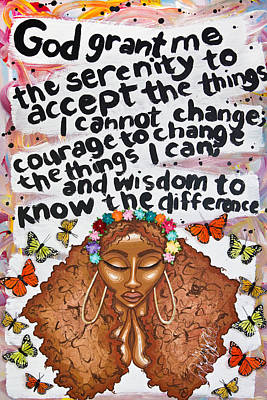Painting - Serenity Prayer by Aliya Michelle