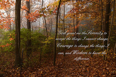Photograph - Serenity Prayer by Ann Bridges