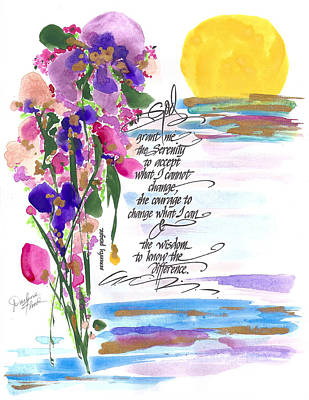 Drawing - Serenity Prayer by Darlene Flood