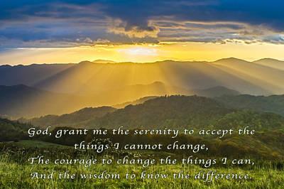 Photograph - Serenity Prayer by David Simchock
