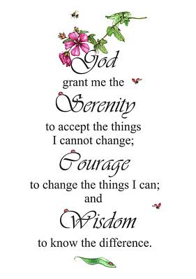 Mixed Media - Serenity Prayer by Heidi Kriel