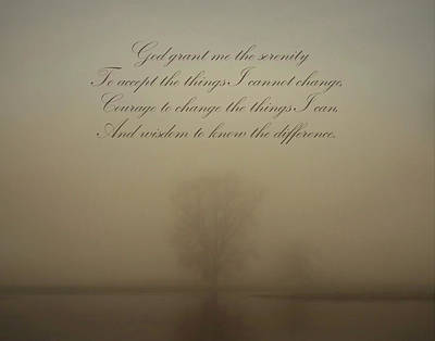 Photograph - Serenity Prayer by Inspired Arts
