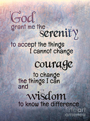 Digital Art - Serenity Prayer by Jutta Maria Pusl
