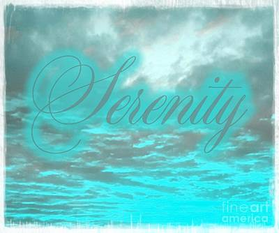 Digital Art - Serenity by Rachel Hannah