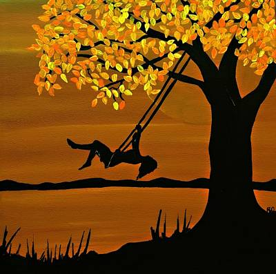 Girl On A Swing Painting - Serenity by Rachel Olynuk