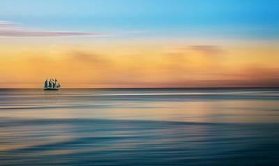 Photograph - Serenity Sailing Dreamscape by Debra and Dave Vanderlaan
