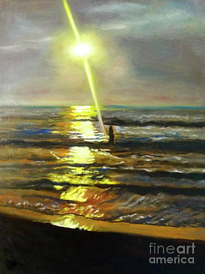 Painting - Serenity Sunset by Jenny Lee