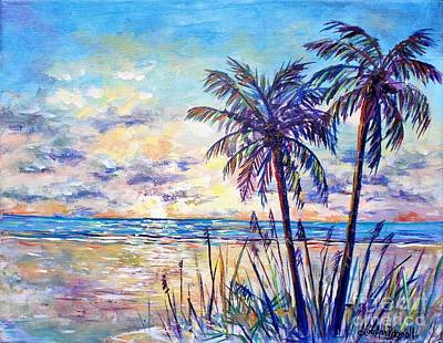 Painting - Serenity Under The Palms by Lou Ann Bagnall