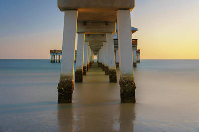 Photograph - Serenity Under The Pier by Mark Robert Rogers