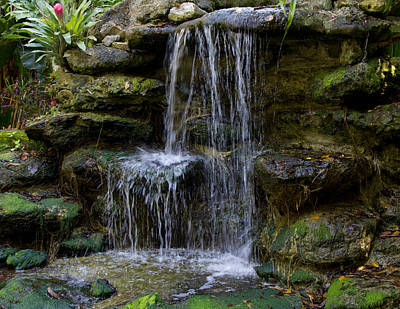 Photograph - Serenity Waterfall 1 by John Stuart Webbstock
