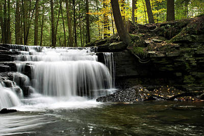 Rollos Photograph - Serenity Waterfalls Landscape by Christina Rollo