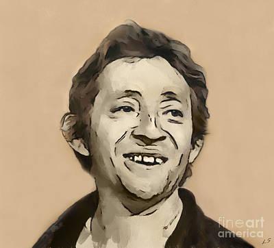 Drawing - Serge Gainsbourg by Sergey Lukashin