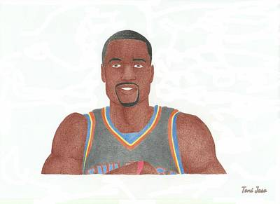 Drawing - Serge Ibaka by Toni Jaso