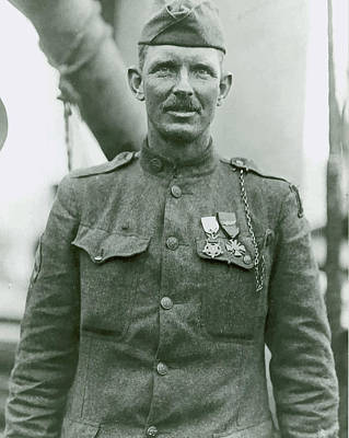 World War 1 Painting - Sergeant Alvin York by War Is Hell Store