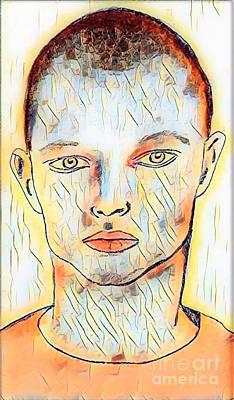 Drawing - Lars by Manuel Matas