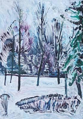 Painting - Sergey Rachmaninoff In Strastnoy Boulevard by Anna Yurasovsky