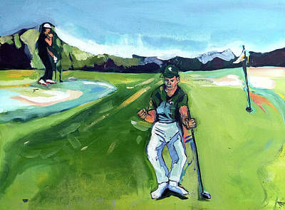 Painting - Sergio And Rose 2017 Masters by John Jr Gholson