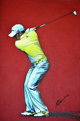 Sergio Garcia By Mark Robinson Art Print by Mark Robinson
