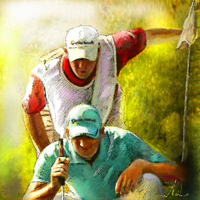 Sports Paintings - Sergio Garcia in the Madrid Masters by Miki De Goodaboom