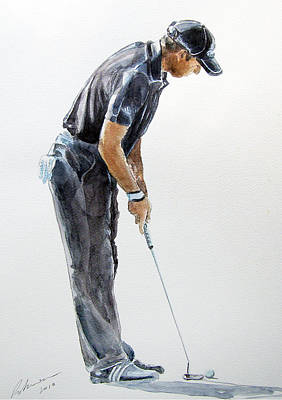 Painting - Sergio Garcia Watercolor by Mark Robinson