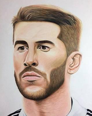 Sergio Ramos Art Print by William Hernandez