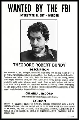 Serial Killer Ted Bundy Art Print