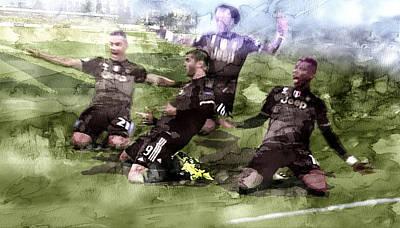 Serie A Winner Juventus 11 Art Print by Jani Heinonen
