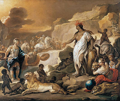 Series Of The Four Parts Of The World. Africa Painting - Series Of The Four Parts Of The World. Africa by Luca Giordano
