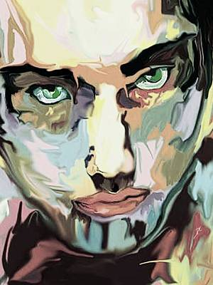 Digital Art - Serious Face by Darren Cannell