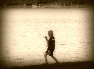 Photograph - Serious Fishing  by September  Stone